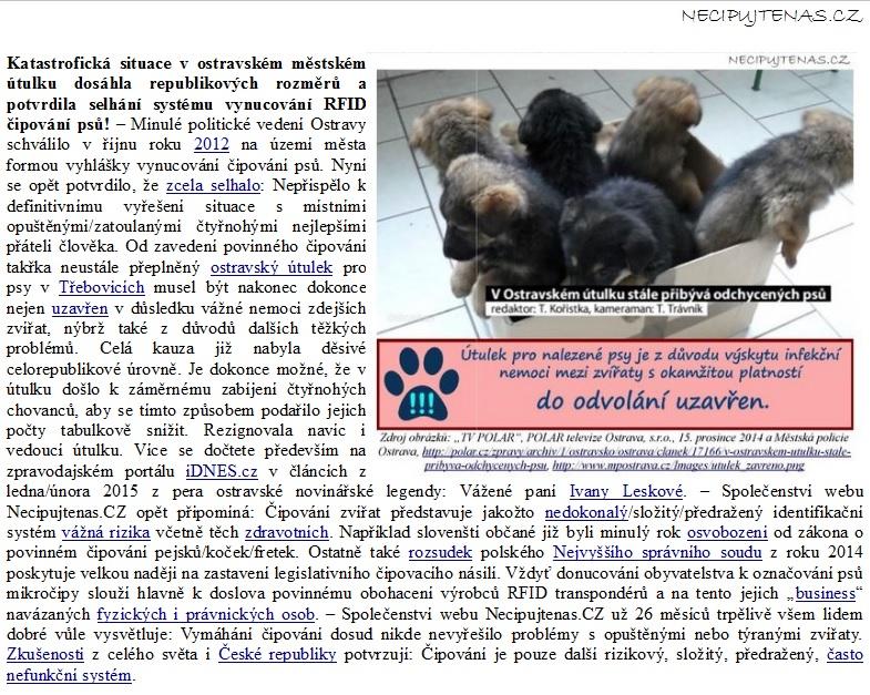 Výběr z monitoringu sdělovacích prostředků od roku 1999 až do současnosti  je k dispozici zde  http   www.necipujtenas.cz media  5440a33a49e